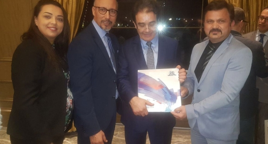 Mr. Rakesh Gaur Presented Skyline Coffee Table Book to H.E. Abdelkrim Benatiq, Minister Delegate to the Minister of Foreign Affairs-Moroccans Residing Abroad