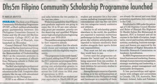 Filipino Community Scholarship Programme Launched