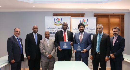 SUC Signs an MOU with the Consulate of South Africa in Dubai