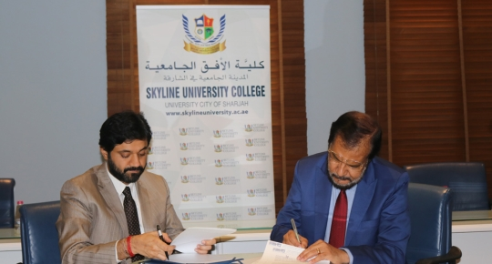 SUC Signs an MOU with Indian Association Sharjah