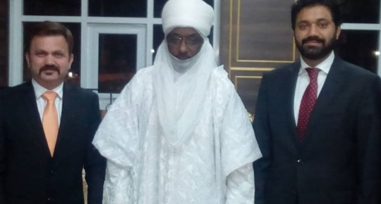 SUC COEC and SUC Director – Head of Marketing and Communications paid a courtesy visit to the Emir of Kano
