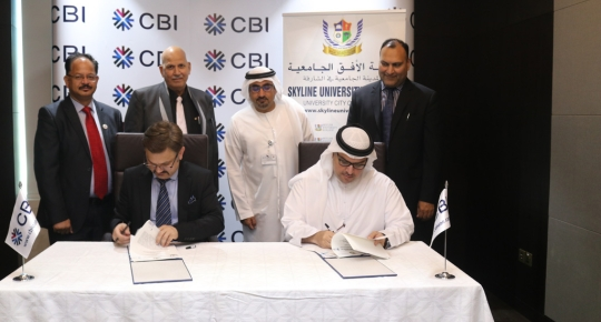 Skyline Signs an MOU with Commercial Bank International