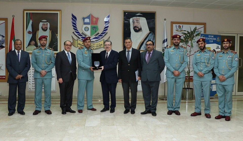 Skyline University College received delegation from Sharjah Police Academy