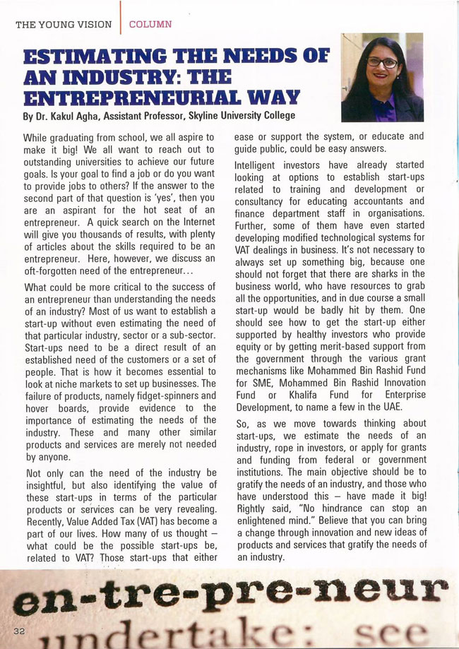 SUC in Media - The Young Vision Magazine