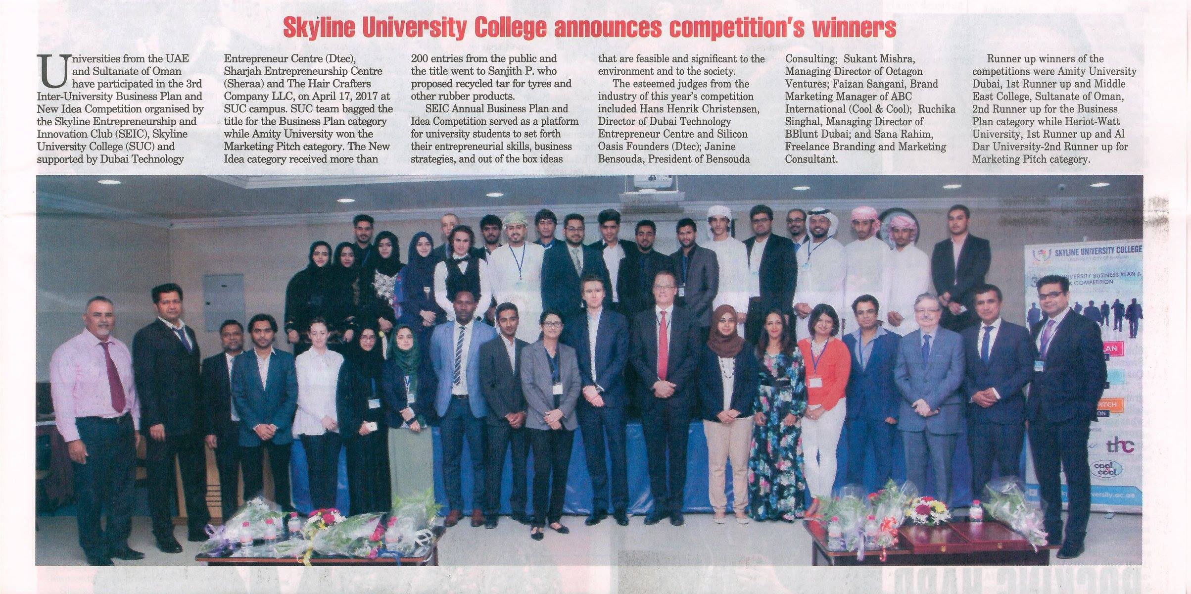 SUC in Media -Gulf Today.
